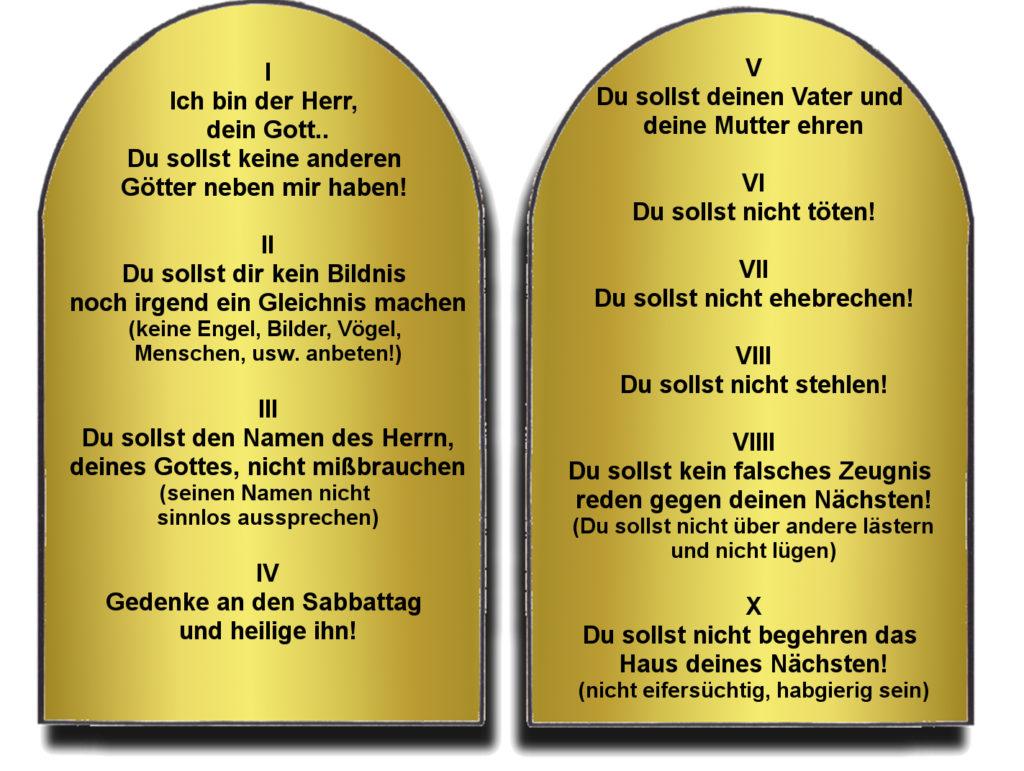 Die 10 Gebote Gottes